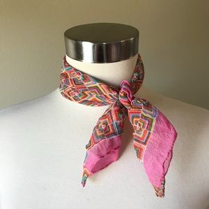 Vintage Pink Small Square Scarf